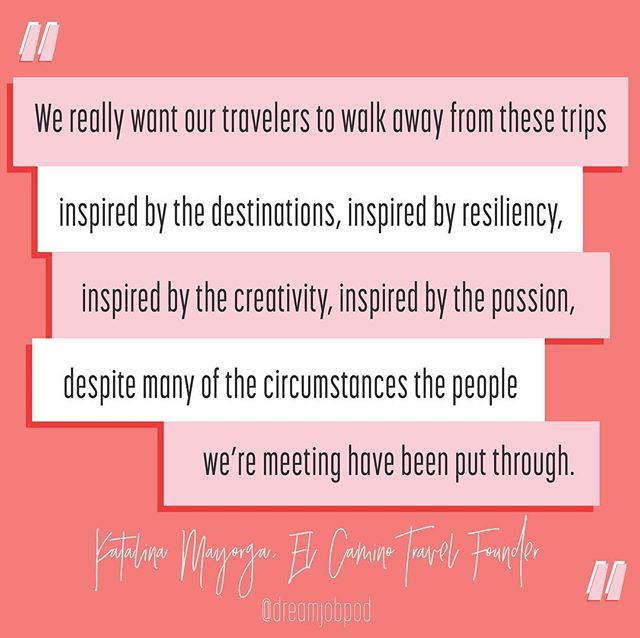 - @theyoufinder on forming empathy through travel. And why their goal at @elcaminotravel is to immerse travelers in a destination by not just introducing them to the locals but living alongside them, learning from them and gaining inspiration from them! Want to hear more? {link in profile}