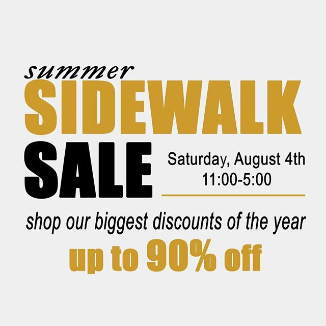 Stop by tomorrow for our sidewalk sale! Help us make room for our new merchandise. Items up to 90% off! Don't miss our biggest sale of the year! #sale #clearance #smallbusiness #sale #longisland #sidewalksale