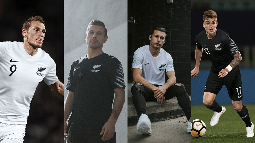 """- """"People in New Zealand rally behind the silver fern,"""" says Pete Hoppins, Nike Football Apparel Senior Design Director. """"While it has been the primary symbol for New Zealand football for some time, we decided to integrate the frond more completely into the national team collection for 2018."""""""