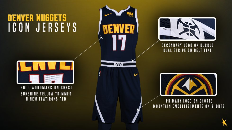 a25b8e46452 New Uniforms for the Nuggets — UNISWAG