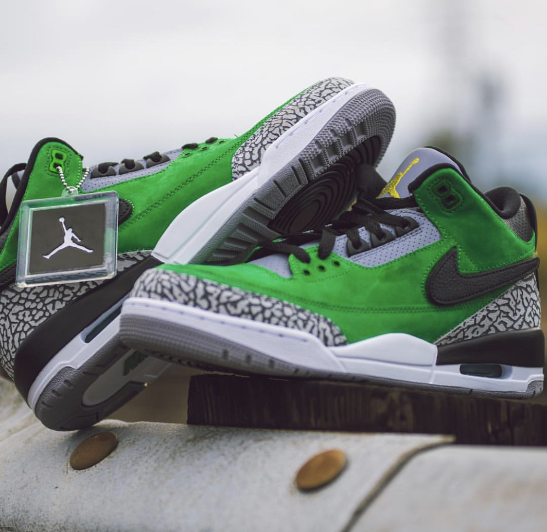 9f3d051a1344 Oregon Edition Jordan 3 Tinker for Oregon Football — UNISWAG
