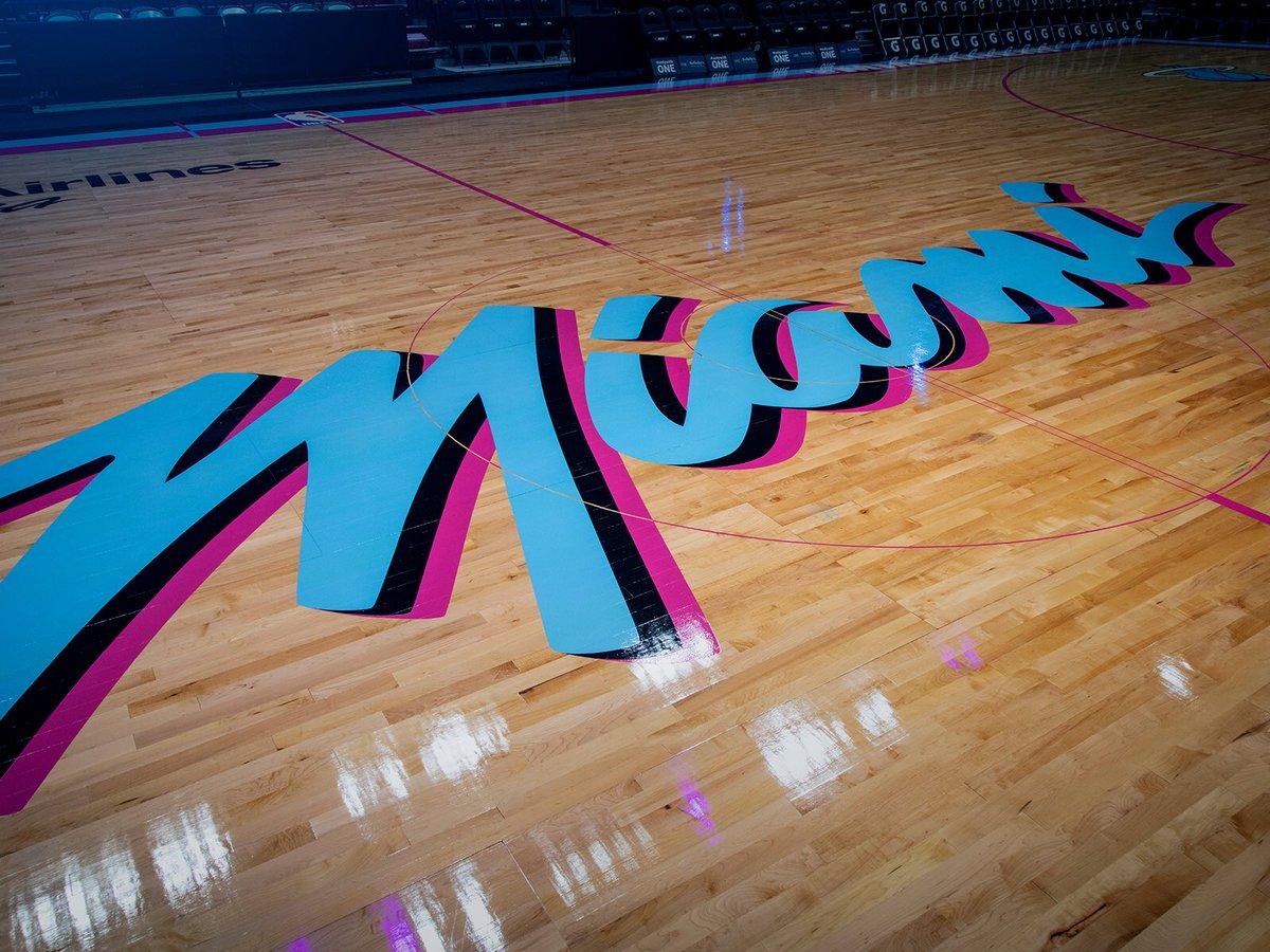 Miami Heat Vice Nights Court Uniswag
