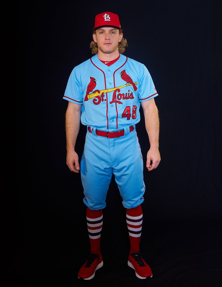 59f92d88c1ac St. Louis Cardinals Powder Blue Throwback Uniform — UNISWAG