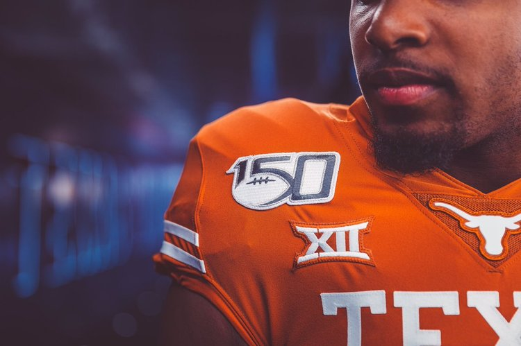 9a4bd0656 Texas Football's NCAA 150th Year Anniversary College Football Patch
