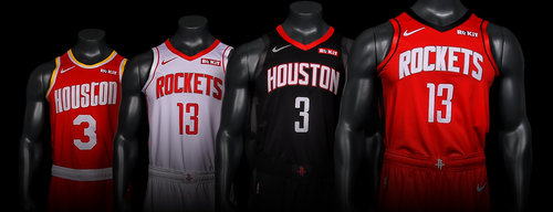 9eee924550ed6c Houston Rockets New Uniforms