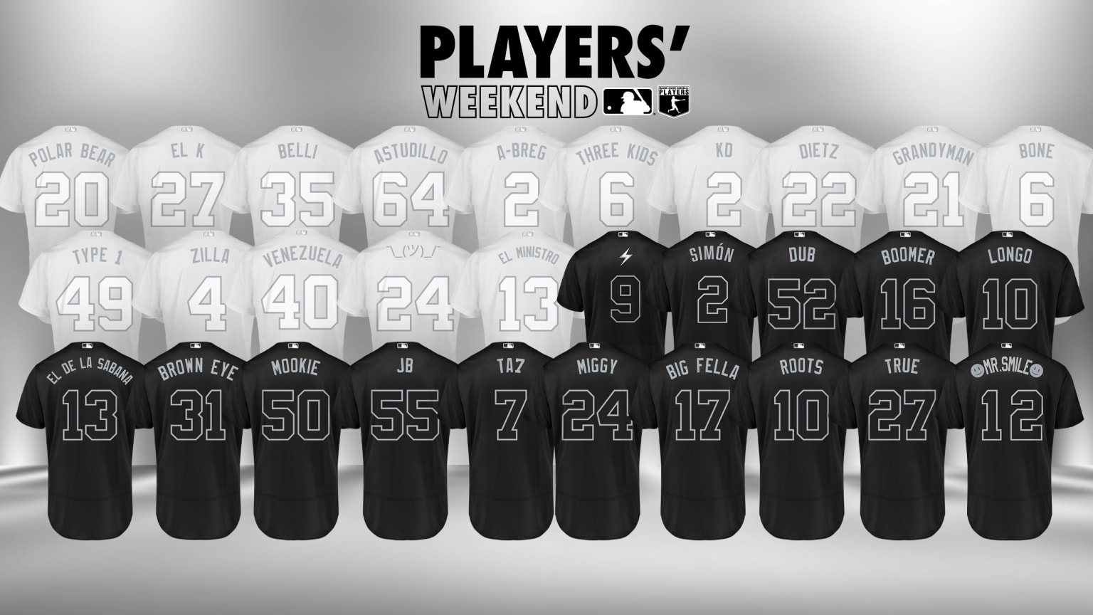 premium selection ac603 b30a9 2019 MLB Players' Weekend Jerseys — UNISWAG