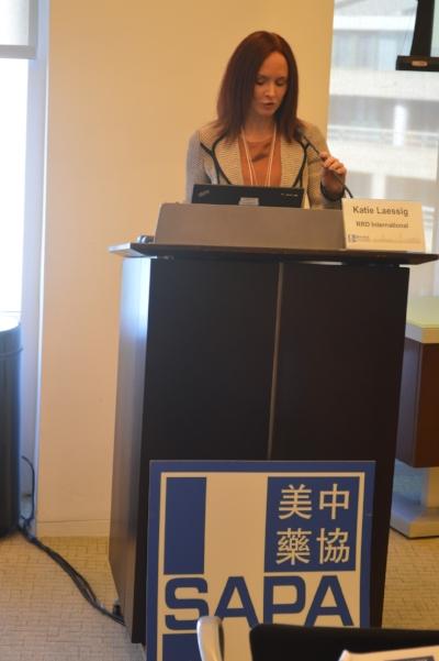 前FDA专家Katie Laessig博士做主题报告(摄影:Tiange Cui)