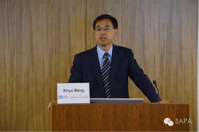 CFDA驻美代表翁新愚博士做主题报告