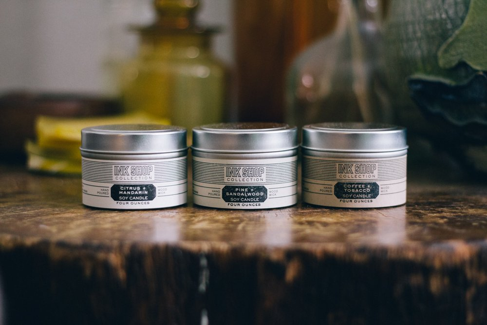 Ink Shop Collection Candles