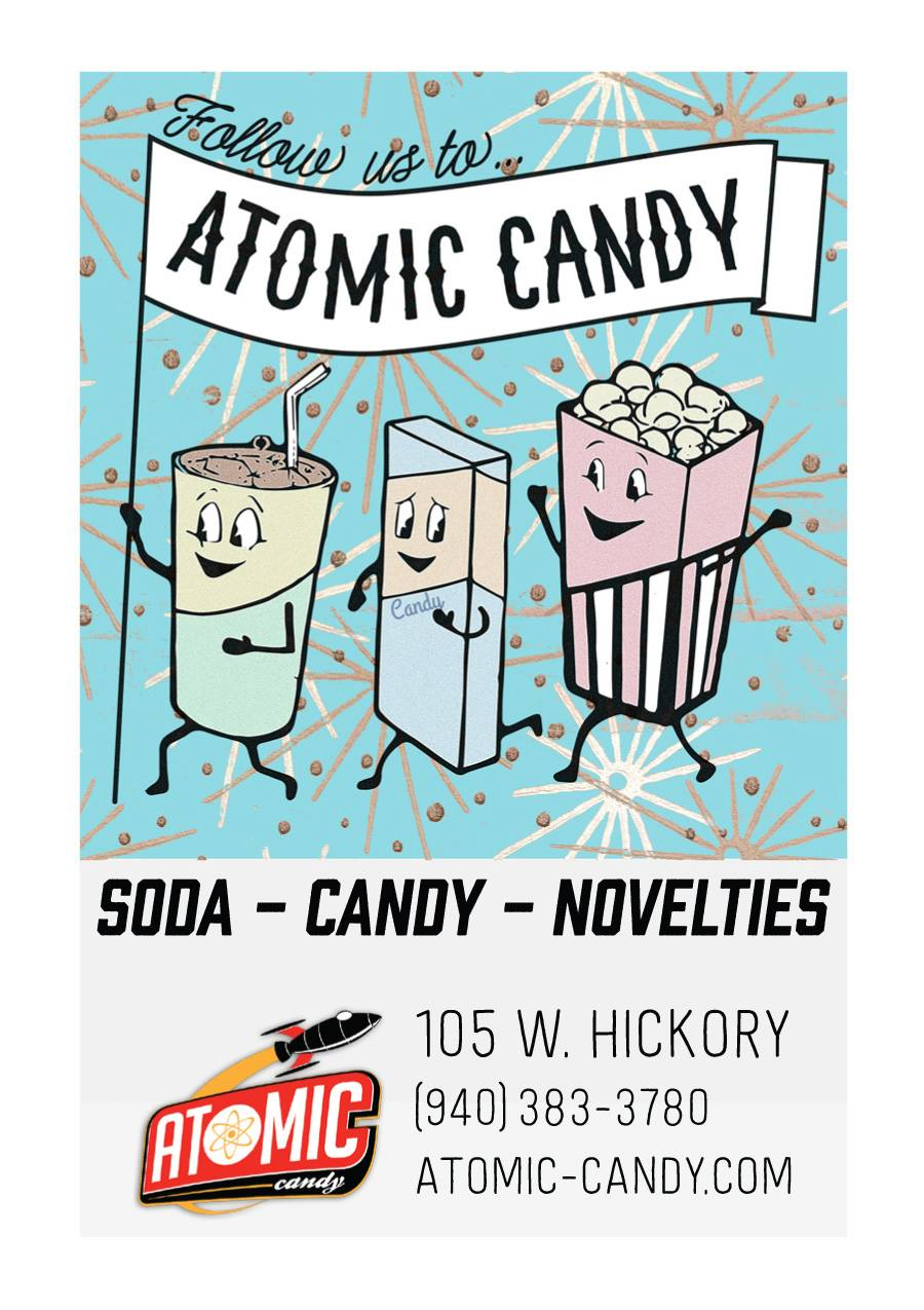 An Atomic Candy ad that appeared in the Thin Line Film Festival program