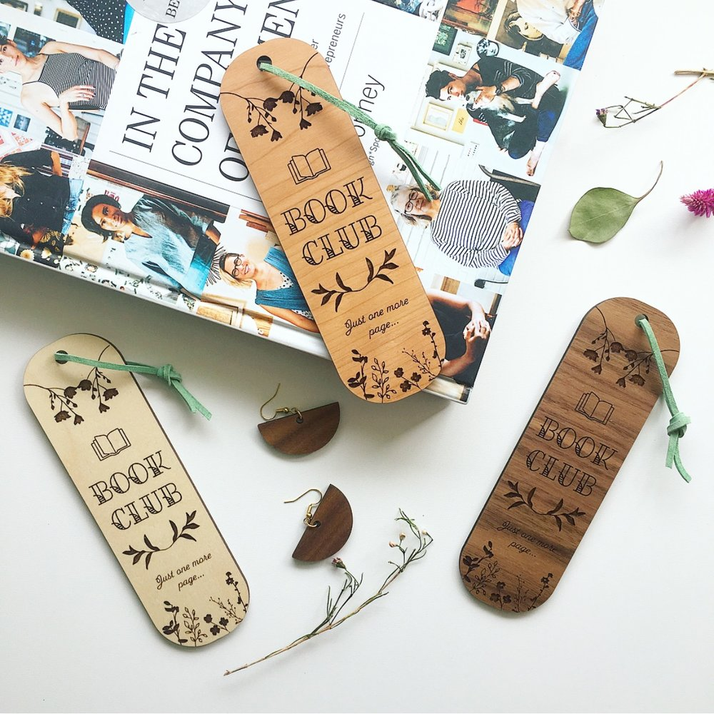Lasercut bookmarks by Ellebrux