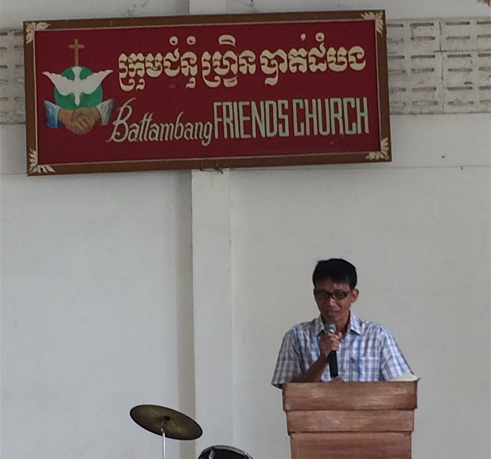 Battambang Friends Church led by SoVann Chhun, BrightStart's Teaching Program Director