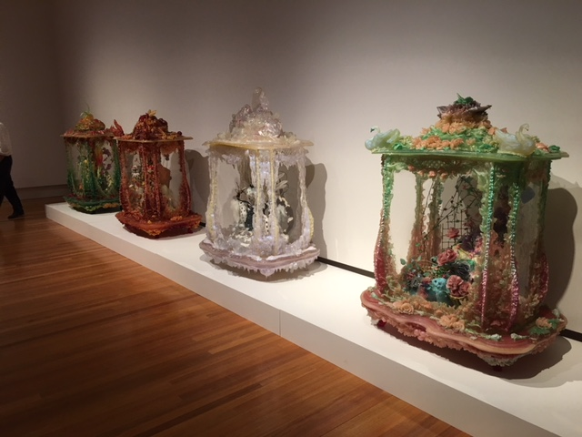 Kate Rohde  Flourish  2008 - installation view  Collective Vision , Bendigo Art Gallery 2017