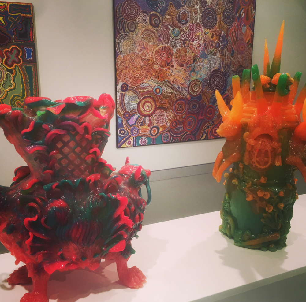Leopard vase and Rabbit vase on display at Hawkesbury Regional Gallery, Photo Instagram @hawkesburyregional_gallery