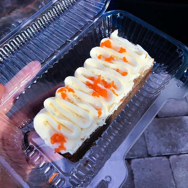 Our fluffy vegan, gluten free carrot cake bars are amazing for any occasion.