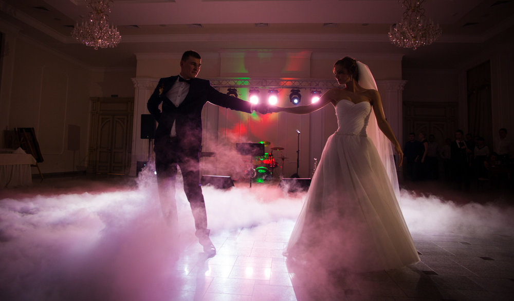"""""""Thank you John for your beautiful up lights & dry ice for our wedding! It was so amazing, adding that extra vibe at our reception. You are so wonderful to work with too."""" - Marie"""