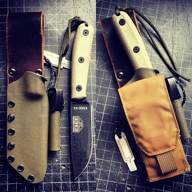 The amazing new ESSE 4HM in a custom sheath. Really liking this knife. #esse4hm #kydex