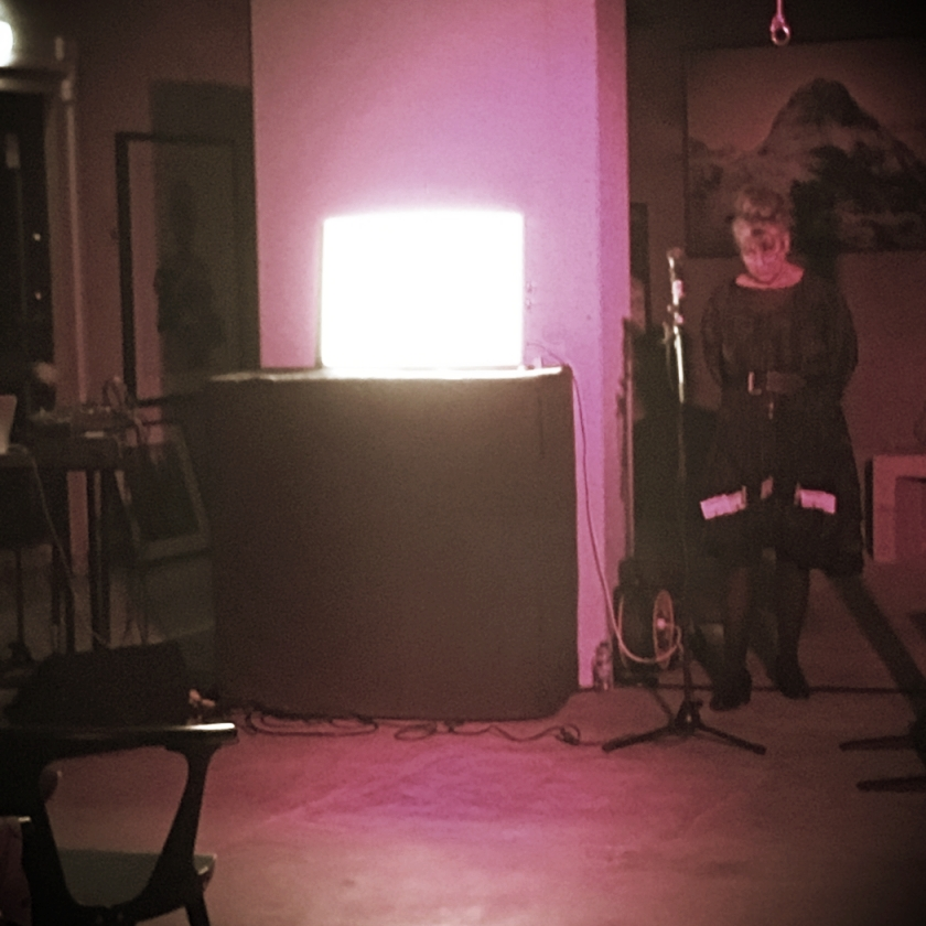 AVA VALSTEN @ The PhotoGallery   No Tell Motel 2016, An performance by photographer/poet Ava Valsten during the culture night in Halmstad.