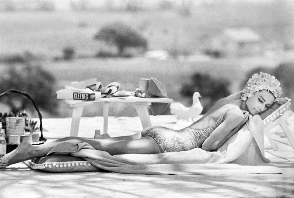 Audrey Hepburn, Sun lounger, ST Tropez 1967 by Terry O`Neill  Ed 50, Silver gelatin  Available in several sizes  Price on request