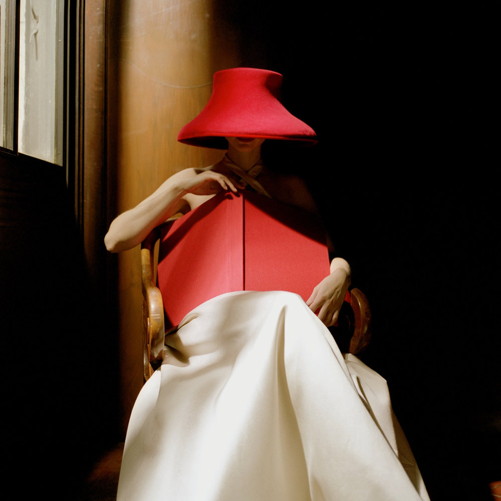 Bernadette in Red Hat with Book by Rodney Smith  Available in 4 sizes  Price from 10000 USD