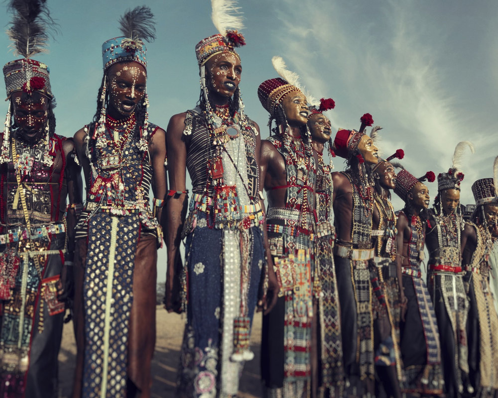 XXVIII1 Wodaabe,,Gerewol, Chad 2016  Before they pass away by Jimmy Nelson  Available in 4 sizes. Small editions.  Price on request.