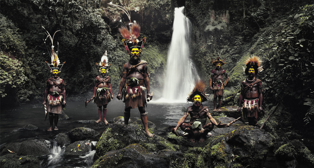 Huli wigmen, ambua falls, tari valley, papua New Guinea 2010  Before they pass away by Jimmy Nelson  Available in 4 sizes. Small editions.  Price on request.