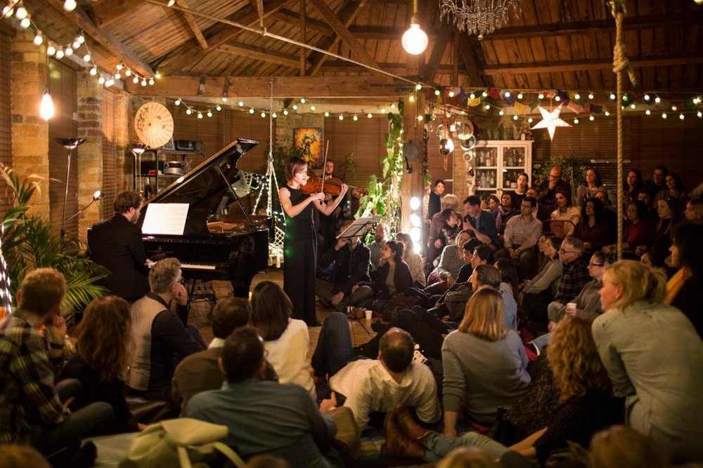 Debut Treehouse Classical Concert Series, co-created by Lizzie Holmes (founder of Debut) and Ross Elder (owner of Shoreditch Treehouse)