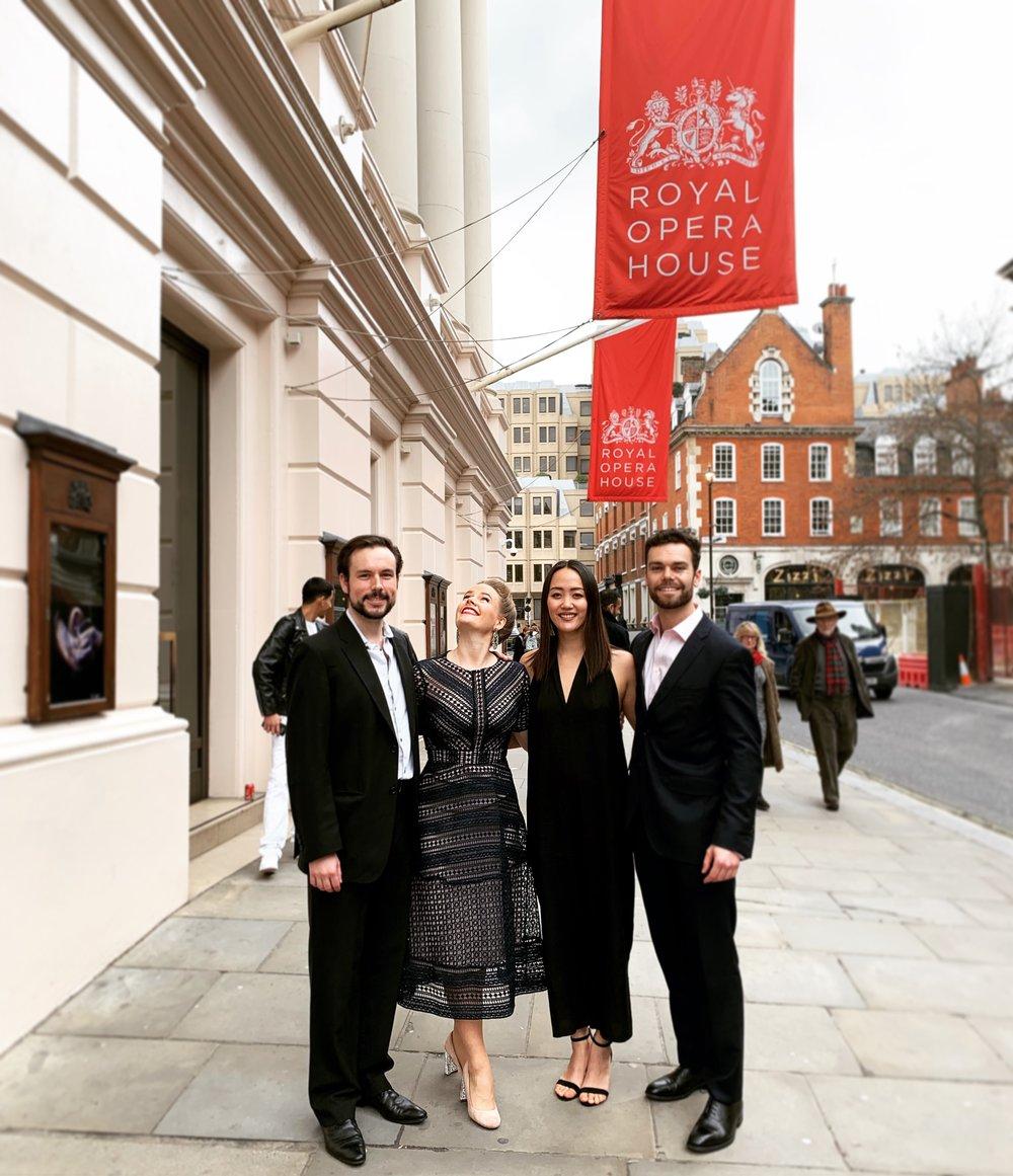 Live at Lunch, Royal Opera House, soprano Lizzie Holmes, tenor Ben Smith, pianist Somi Kim, baritone Kieran Rayner & DEBUT.JPG