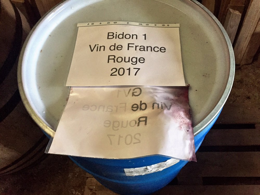 Vinification Romuald Cousy L'ambito