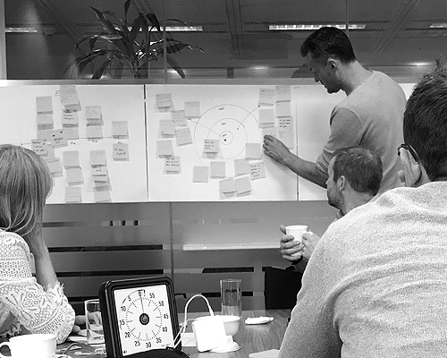 The '3 Hour Brand Sprint' is a great way to align leadership on core values.