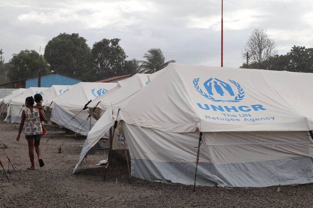 UNHCR tents providing much needed shelter from the rain in Boa Vista. We met a beautiful couple with four children who had just moved into one of these tents after walking from the border of Venezuela to Boa Vista (around 200kms). They had been sleeping rough for weeks. I felt so relieved for them to be finally safe and dry.