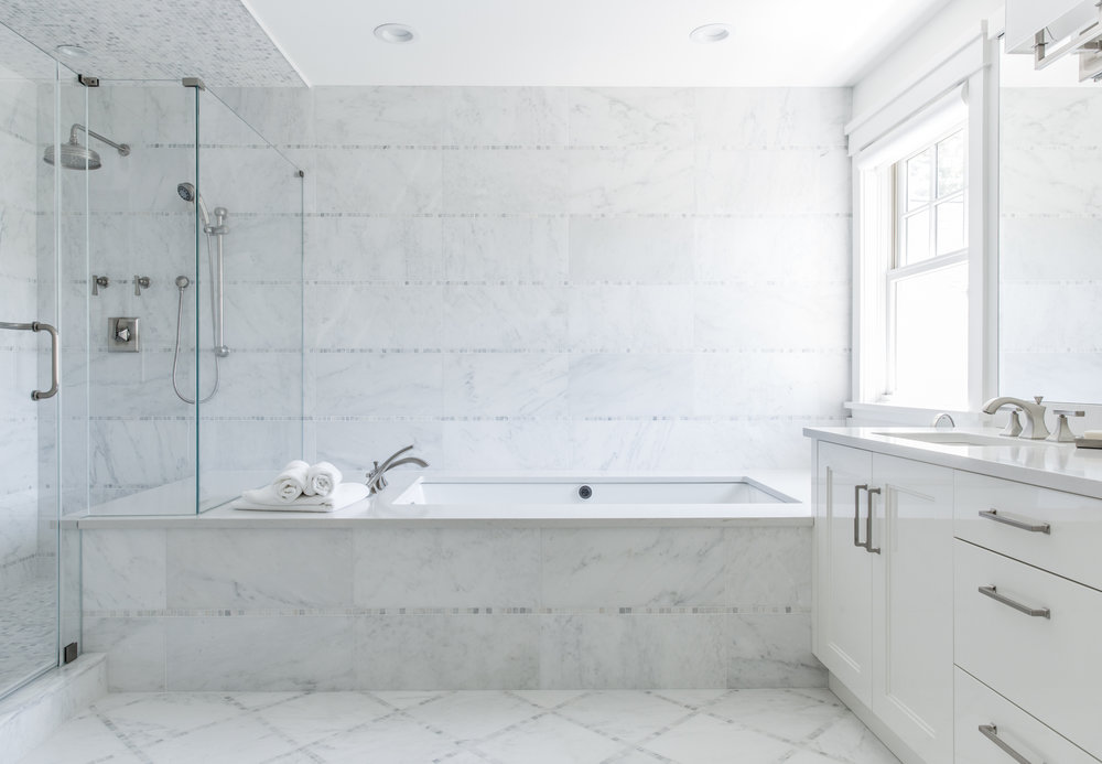 After all is said and done, how you want to design your bathroom and the tile you choose should be something you LOVE. Keeping in mind for the future is important, but remember that you should be happy with your decisions in the present.