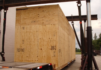 Our team can create  customized industrial sized crates  to safely transport your property coast to coast or internationally adhering to all required regulations and certifications.
