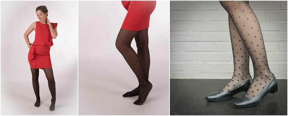 2) The schoolgirls look: a short plaid skirt with these trendy tights! These tights are just perfect for a short skirt!