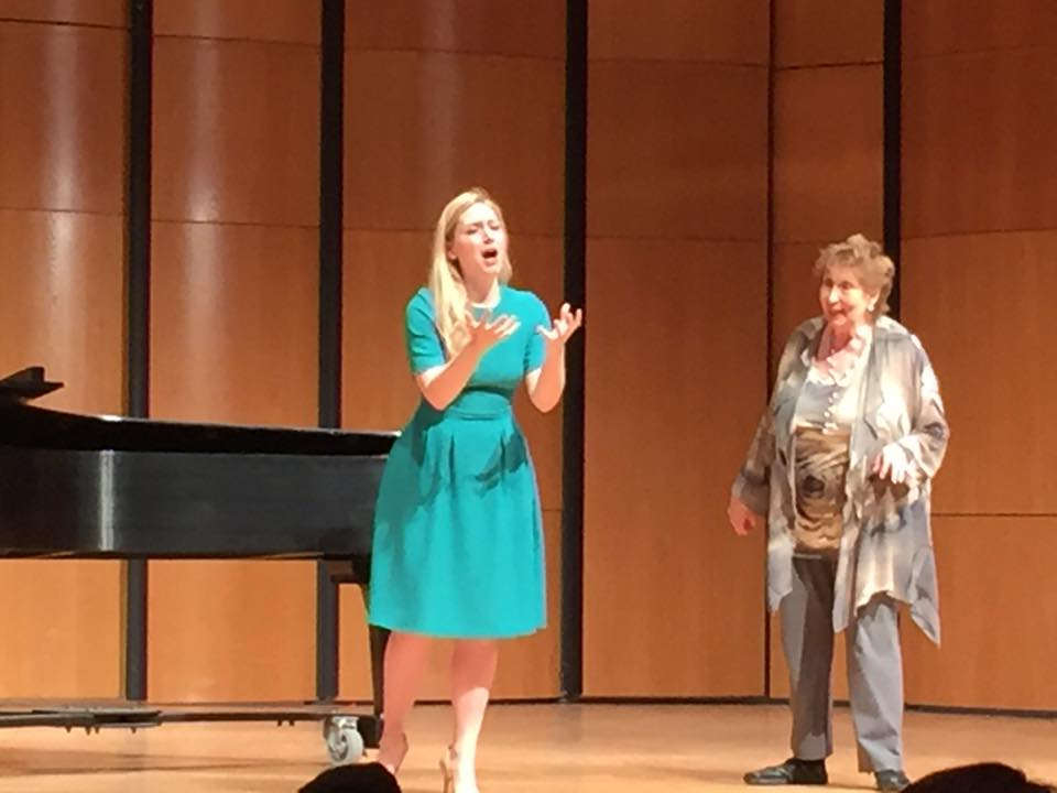 DMA student Nancy Carey in MasterClass with Mignon Dunn