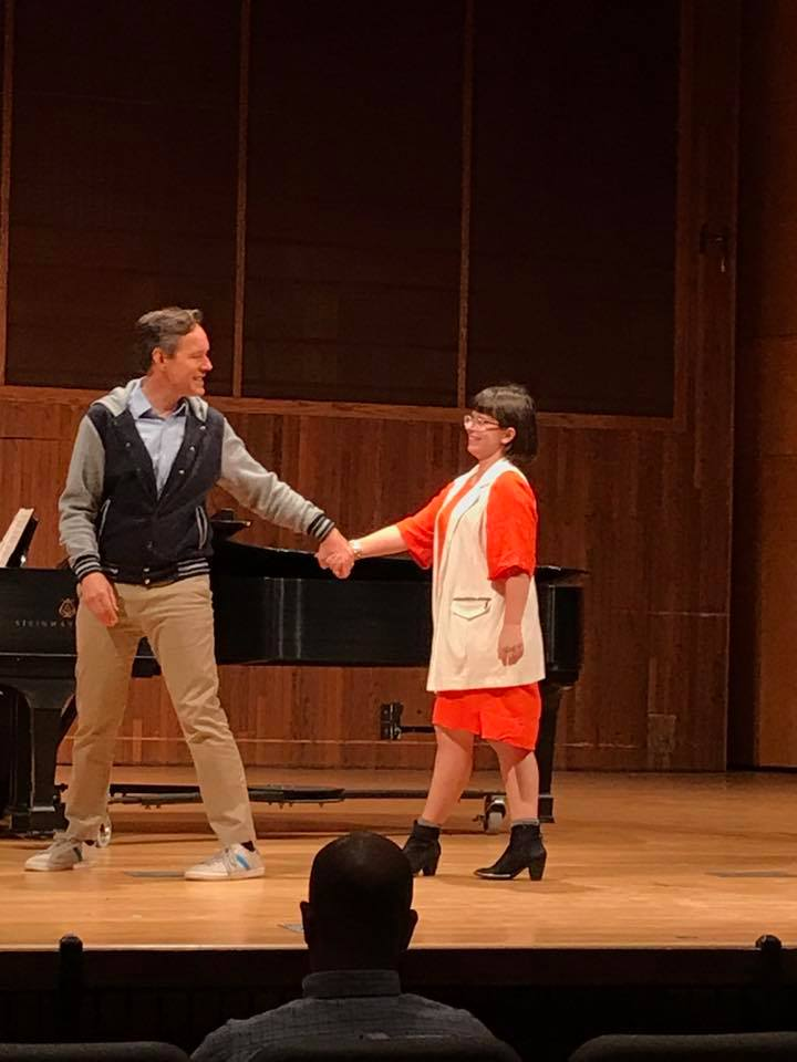 MM student Marissa Howard in MasterClass with Jake Heggie
