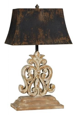 Ivy Table Lamp w/ Metal Shade| #7354