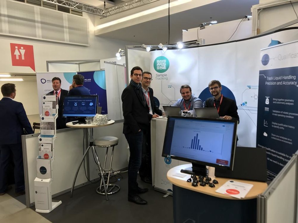 Discngine Qualification booth at SLAS Europe 2018