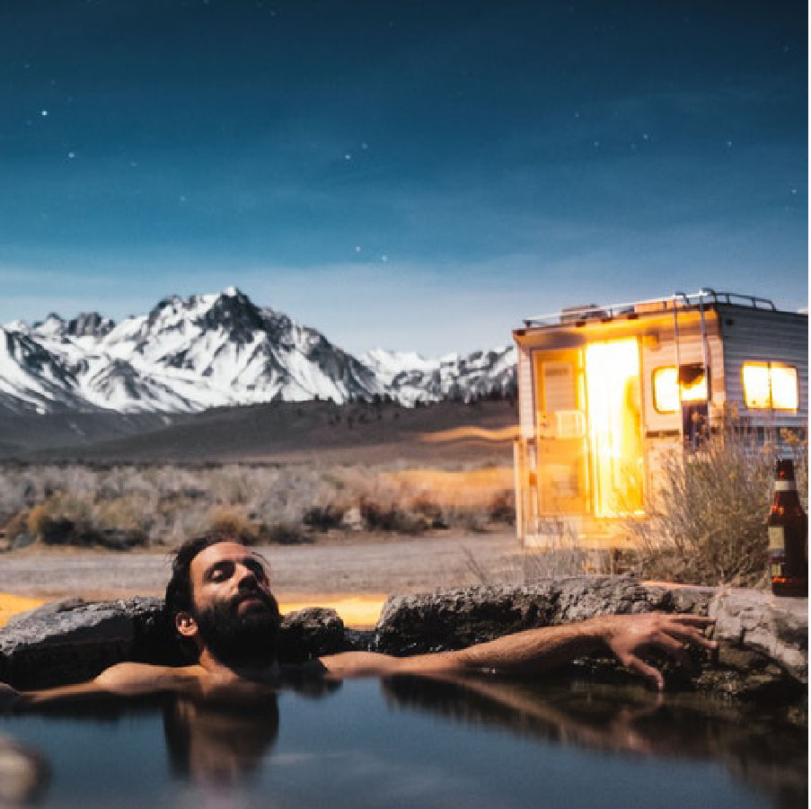 Visit some remote hot springs -