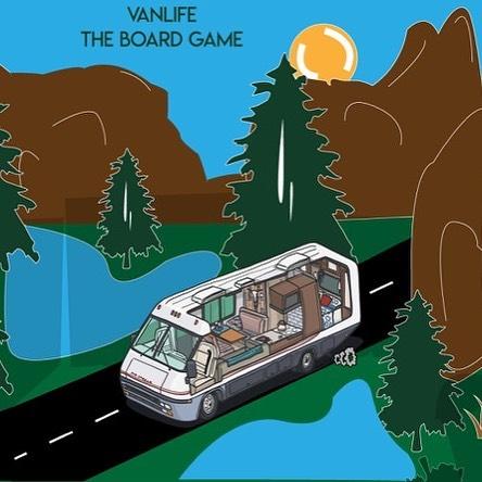 #Yosemite vanlife illustration. . . . #rvlife #vanlife #vanlifer #vanlifers #vanlifecamper #projectvanlife #vanlifedistrict #thisisvanlifeing #illustrator #art #rvs #tabletopgames #boardgames #vanlifetheboardgame #vwdoka