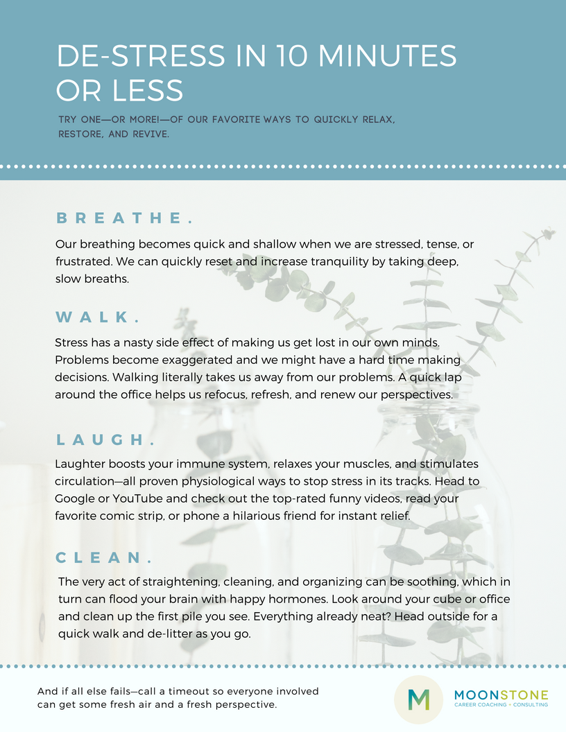 10 Ways to Instantly De-Stress in 10Minutes recommend