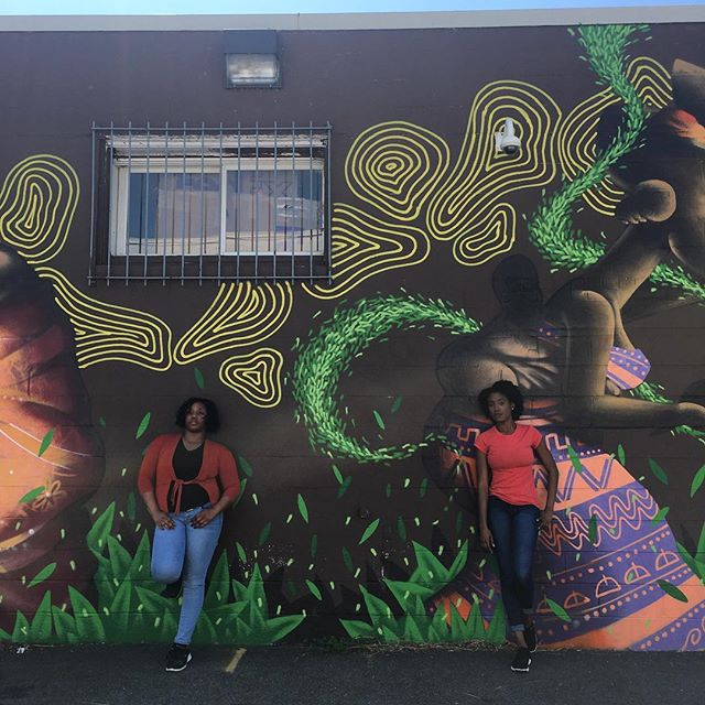 Bravo @meri_kashi24 & Nicole Sneed for rocking it today @pgaamcc - Can't wait to see how the film came out! More to come!  PS This mural is stunning! Go check it out! #1mileradiusproject #followtheorange #1mrp #dance #film #design #community #mural #moretocome #dancing @orangegrovedance