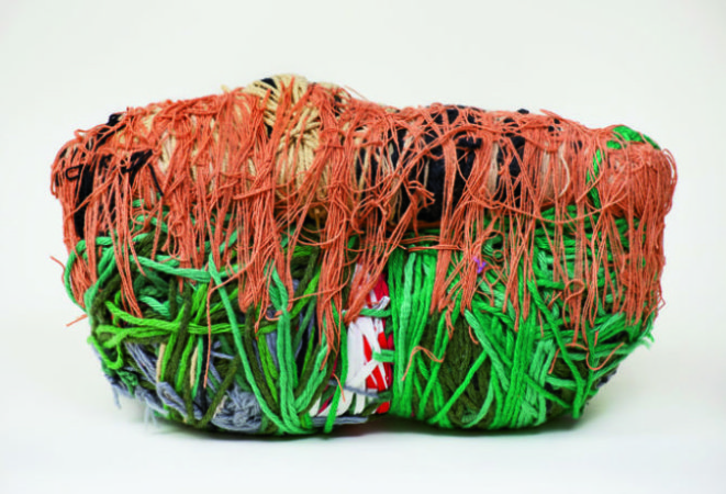 Untitled,2000, fiber and found objects, Image courtesy of Art in America
