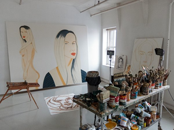 Alex Katz's studio, Image courtesy of WordsNPixels