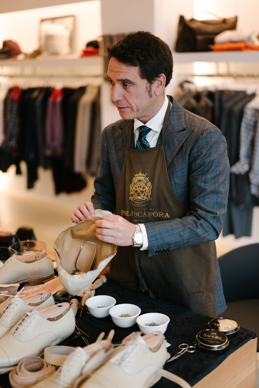 Paolo Scafora, third generation Neapolitan shoemaker.