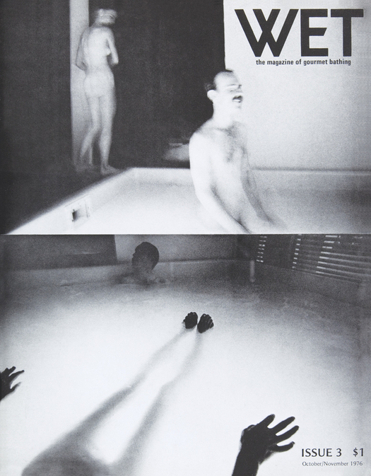 An early cover of Wet Magazine, depicting Leonard Koren's photography celebrating bathing.