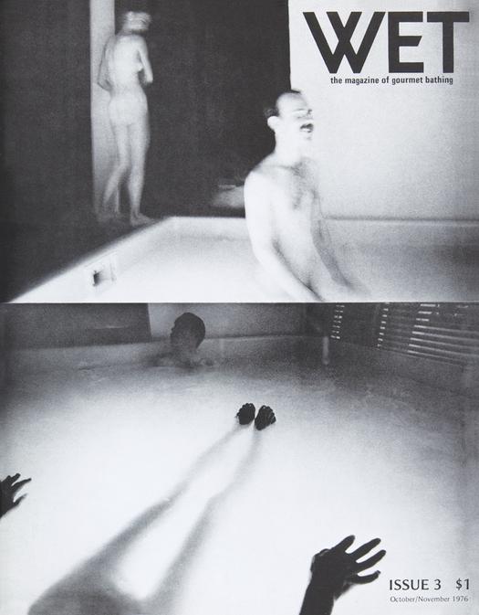 An early cover of Wet Magazine, depicting Leonard Koren's photography celebrating bathing.
