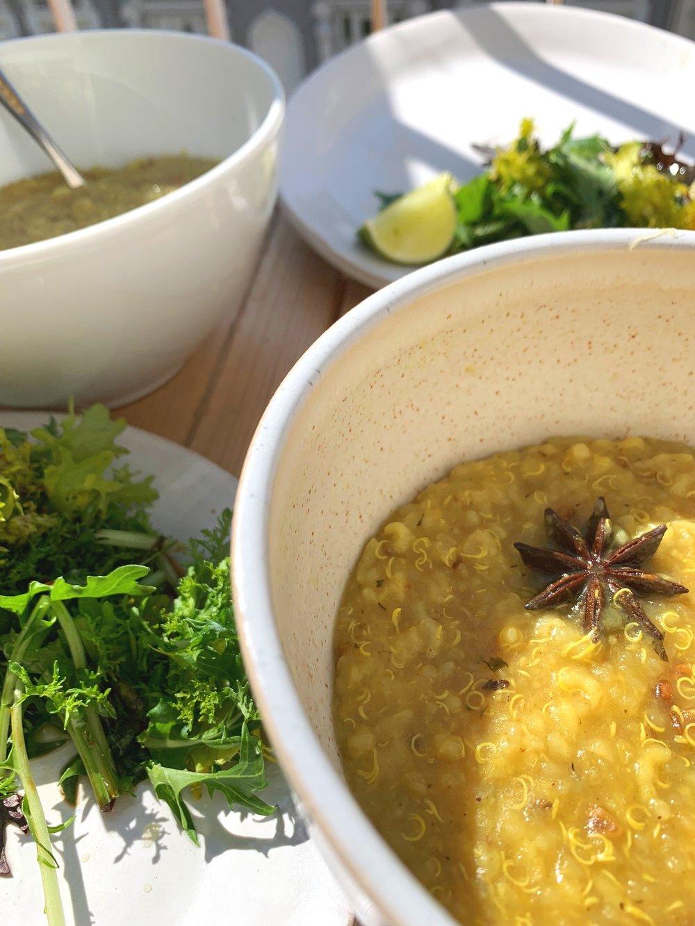 Plain kitchadi with rice, quinoa and split mung