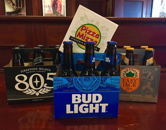 Word on the street is we deliver beer now 👀 Spoilers: We do! (Must be 21+ to order beer and show ID at the door) #pizzamizza #beer #805 #firestonewalker #budlight #stellaartois