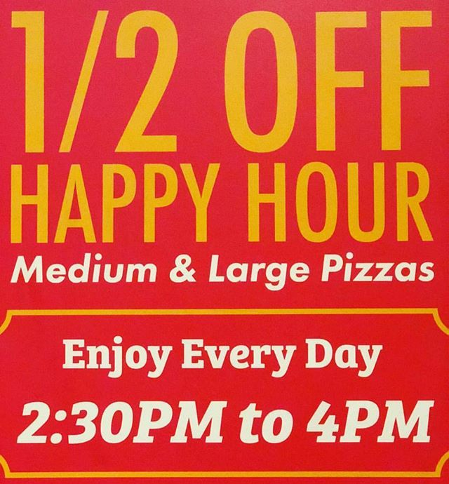 Beat the Heat with Our 1/2 Off Happy Hour!  #pizzamizza #halfoff #happyhour #bestpizzaintown #bestpizza #imnotcookingtonight